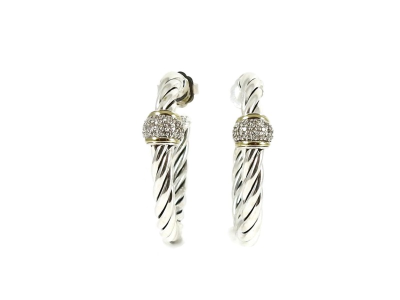 David Yurman Metro Sterling Silver Diamond