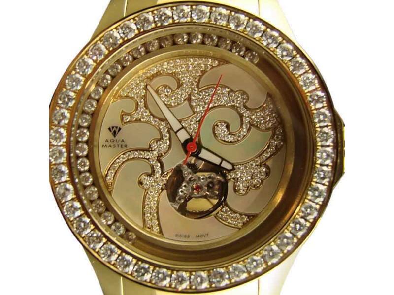 Aqua Master Jojo Joe Rodeo Vs Big 7.50 Ct Diamond Watch
