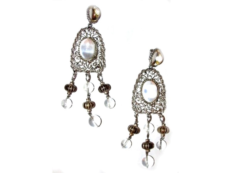 Kenneth Lane Massive Runway Jelly Belly Lucite Chandelier Earrings