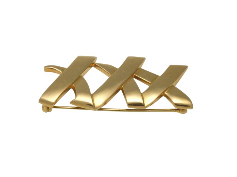 Tiffany & Co. Paloma Picasso 18K Yellow Gold XXX Brooch Pin