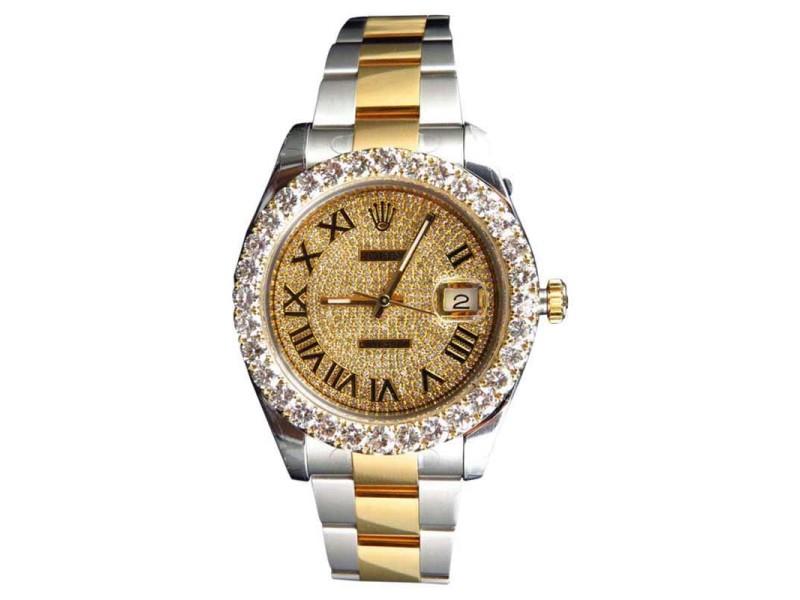 Rolex 41mm 18k Steel 116333 DateJust II 2 With Genuine Diamonds 9 Ct Mens Watch