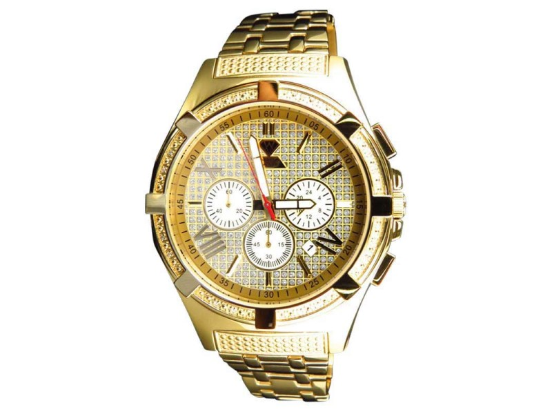 Aqua Master Jojo Joe Rodeo Yellow Gold 47 MM W#349 Genuine Diamond Watch