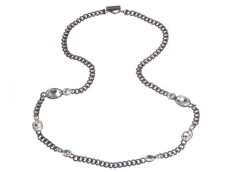 Givenchy Headlight Rhinestone Flapper Necklace