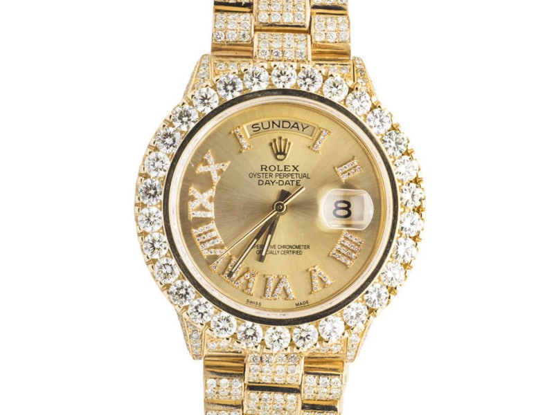 Rolex Presidential Day-Date 18K Mens 23.75 Ct Yellow Gold 41mm Diamond Watch