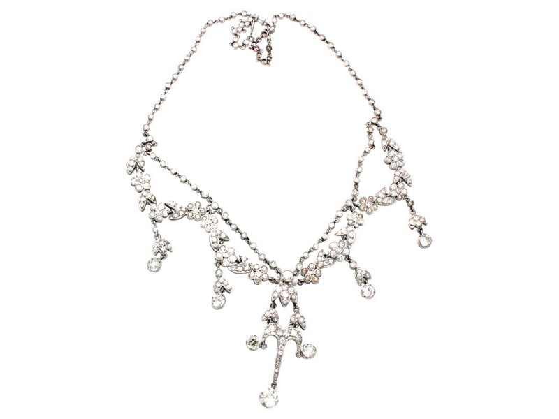Platinum & Diamond Edwardian Necklace