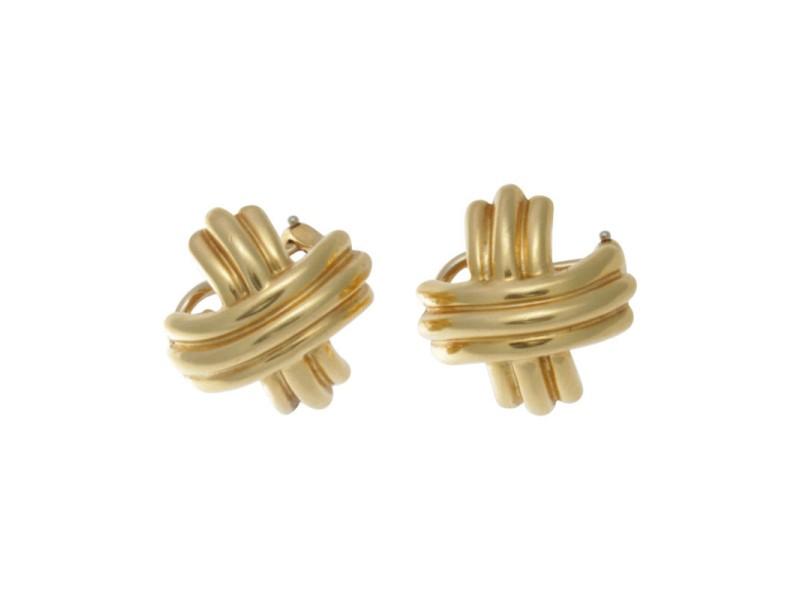 Tiffany & Co. 18K Yellow Gold Signature X Earrings