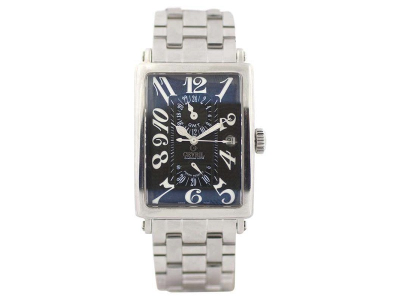 Gevril GMT Avenue Of Americas 5022 34mm Mens Watch