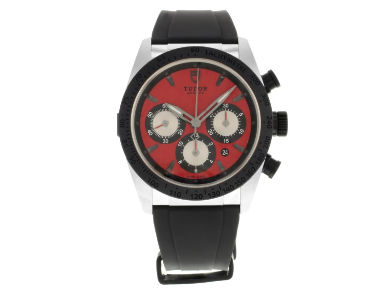 Tudor Fastrider 42010N-RUBBER-RED 42mm Mens Watch