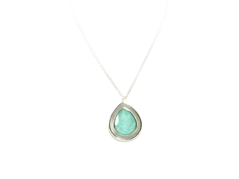 Ippolita Sterling Silver Turquoise Mother Of Pearl Teardrop Rock Candy Necklace