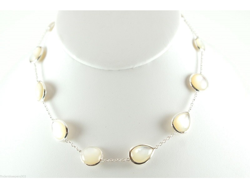 Ippolita 925 Sterling Silver with Mother of Pearl Scultura Necklace