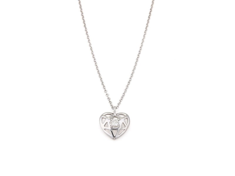 Tiffany co paloma picasso 18k white gold diamond heart pendant paloma picasso 18k white gold diamond heart pendant necklace aloadofball Images