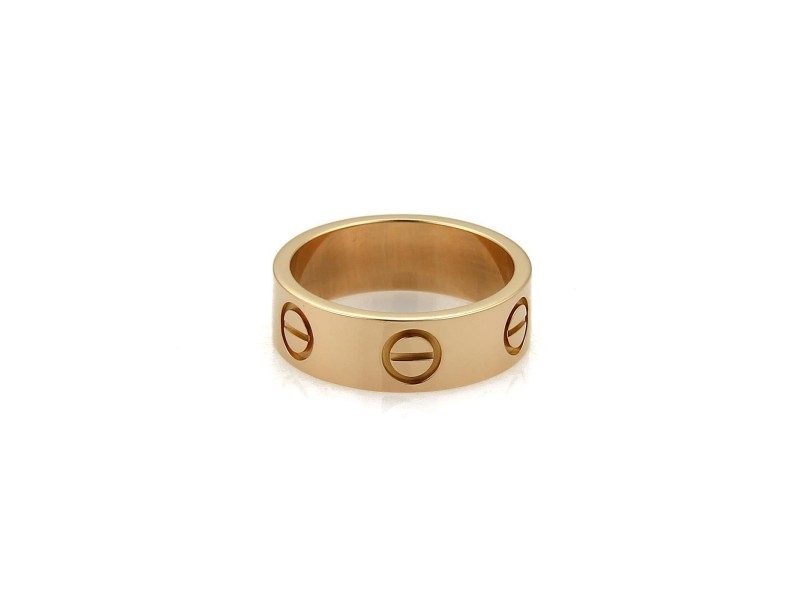 Cartier Love 18K Rose Gold Band Ring Size 4