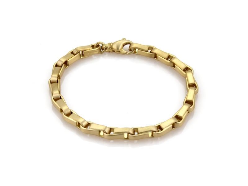 Tiffany & Co. 18K Yellow Gold Box Chain Link Bracelet