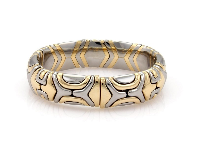 Bulgari 18K Yellow Gold and Stainless Steel Parentesi  Bracelet