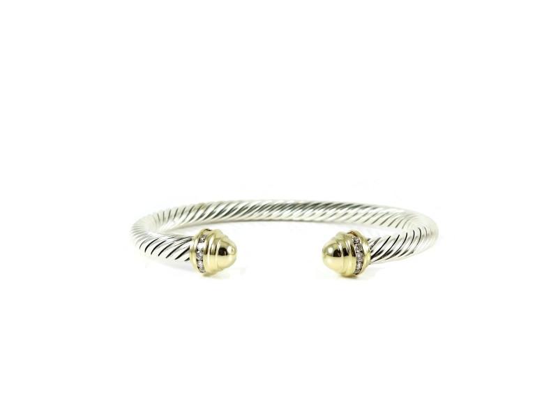 David Yurman Princess Sterling Silver Diamond Bracelet