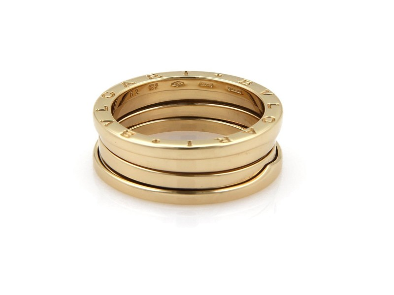 Bulgari B Zero-1 18K Yellow Gold  9mm Wide Band Ring Size 9.75