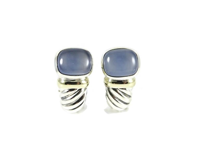 David Yurman Noblesse Sterling Silver Chalcedony Earrings