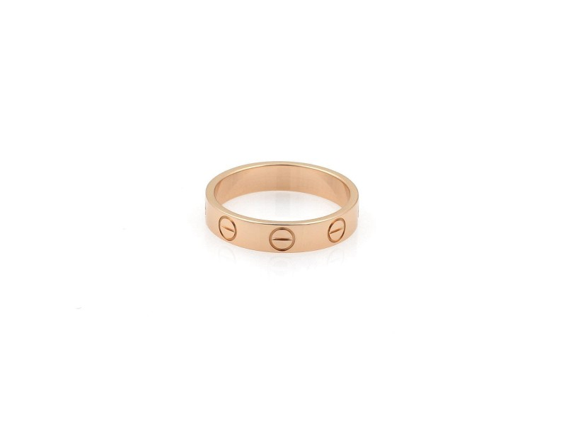 Cartier Love 18K Rose Gold Ring Size 4