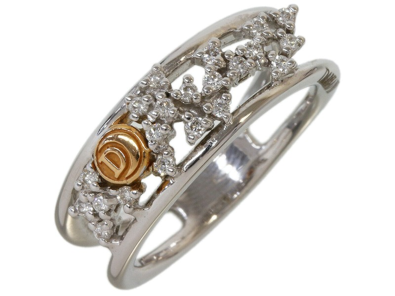 Damiani Diamonds Design Ring in 18K White Gold US6 EU51