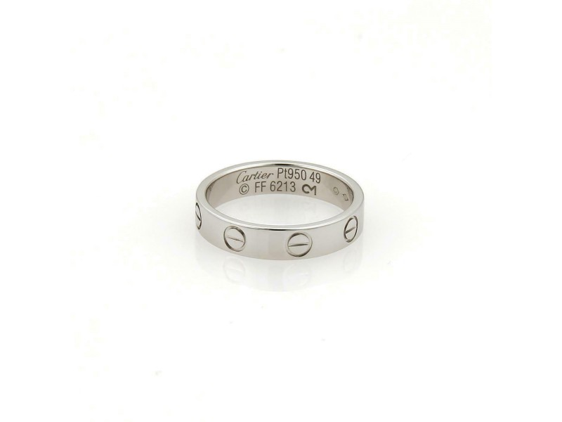 1846c290a9b5c Cartier Mini Love Platinum 3.5mm Wide Band Ring Size 49-US 5