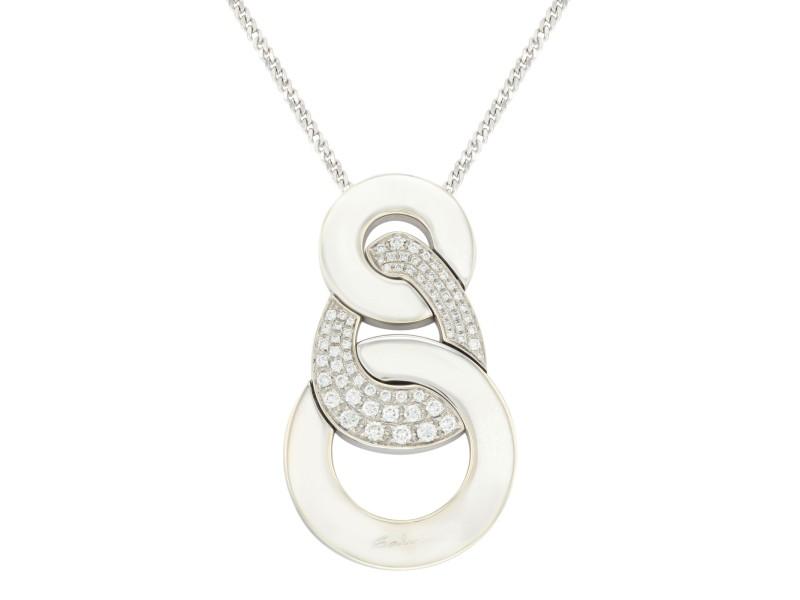 Salvini 18k White Gold & 1.30 Cttw Diamonds Pendant Women's Necklace