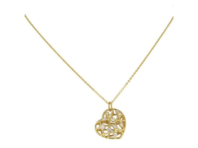 Diamond Heart Necklace On A Chain