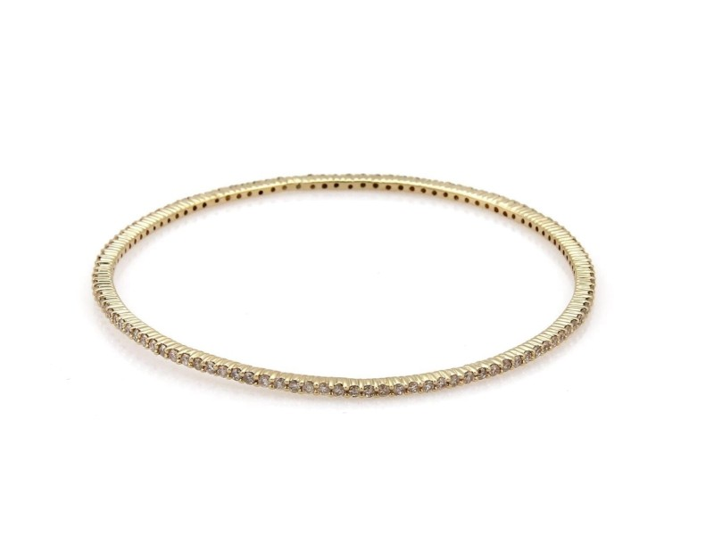 Elegant 14k Tricolor Gold 5.25ctw Diamond Set of 3 Bangles