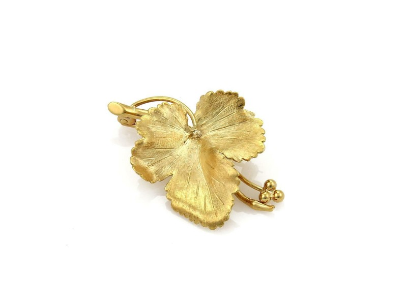 Tiffany & Co. Vintage Maple Leaf Brooch in 18k Yellow Gold