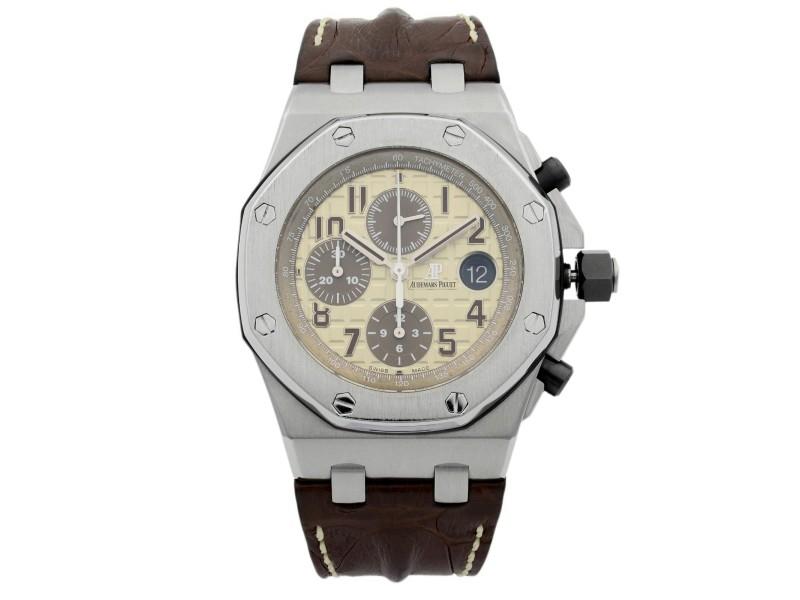 Audemars Piguet Royal Oak Offshore Off-White Steel Watch 26470ST.OO.A801CR.01