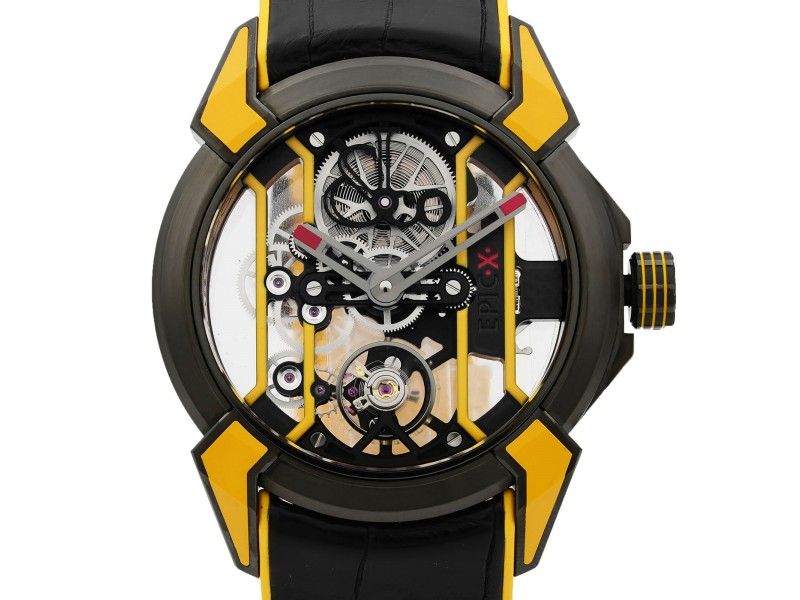 Jacob & Co. Epic X Skeleton Titanium Hand-Wind Mens Watch EX100.21.YR.PY.A