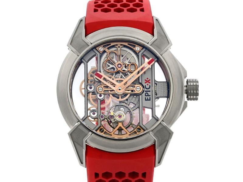 Jacob & Co. Epic X Titanium Skeleton Hand-Wind Mens Watch EX100.20.NS.OX.A