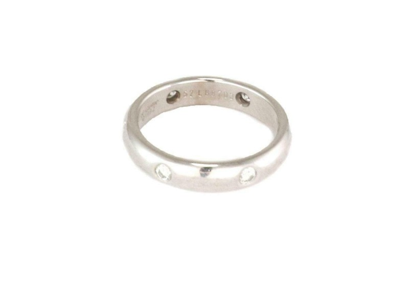 Cartier Stella Diamond 18k White Gold 4mm Band Ring Size EU 52-US 6