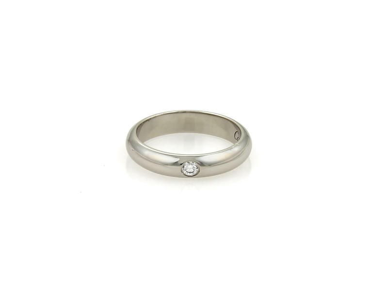 Cartier 1 Diamond Platinum 3.5mm Dome Wedding Band Ring Size EU 47-US 4
