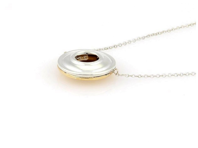 Tiffany & Co. Picasso Sterling & 18k Yellow Gold Circular Pendant Necklace