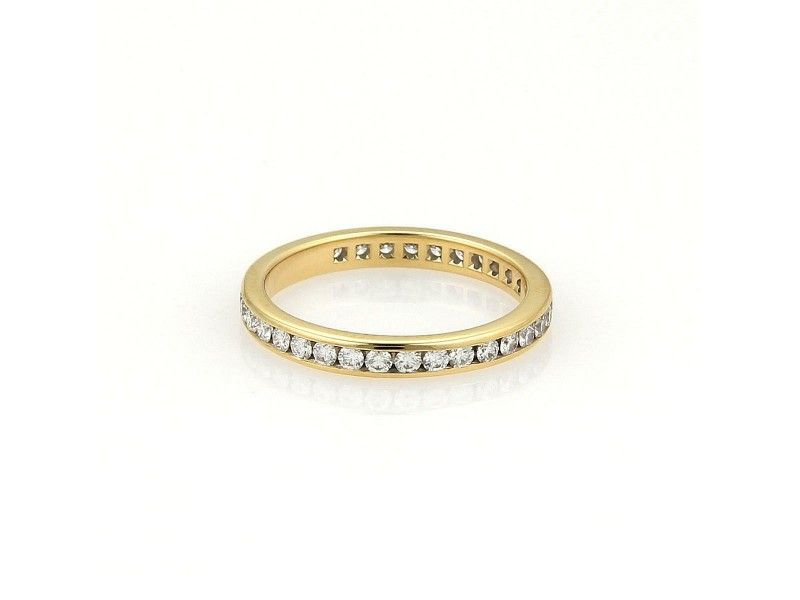 Tiffany & Co. Diamonds 18k Yellow Gold Eternity Band Ring Size 5.5 Ret:$3,675