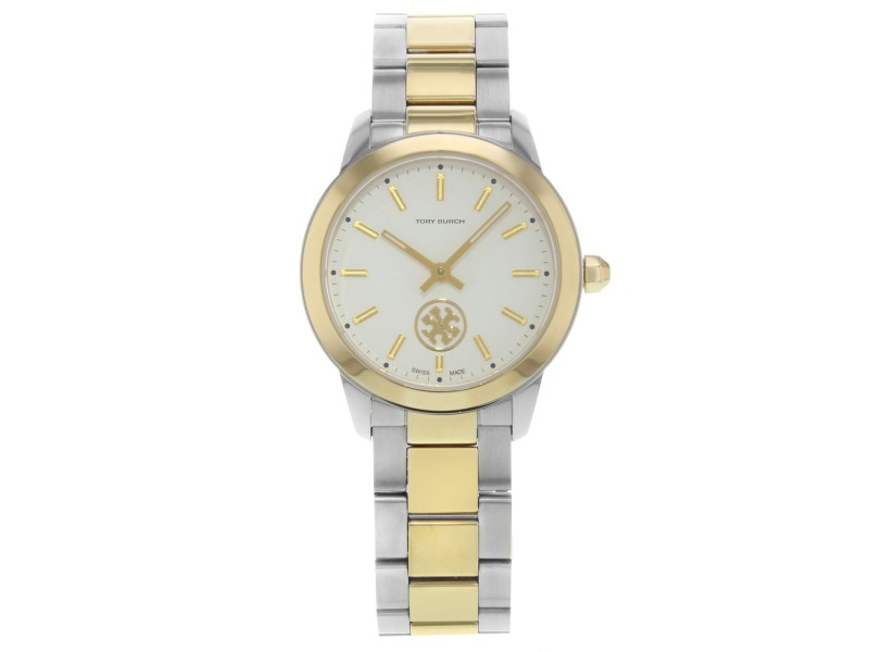 Tory Burch Collins Two Tone Stainless Steel Quartz Ladies Watch TB1306