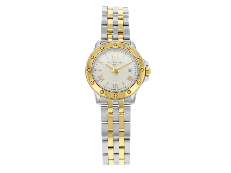 Raymond Weil Tango Steel Gold Tone Quartz Ladies Watch 5399-STP-00657