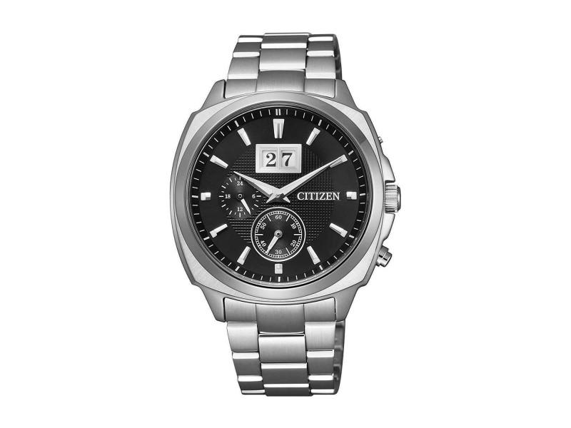 Citizen Eco-drive Perpetual Calendar Steel Black Dial Mens Watch  BT0080-59E