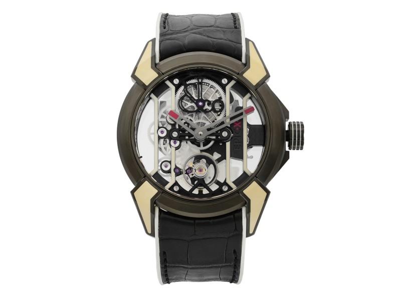 Jacob & Co. Epic X Racing TI Titanium Hand-Wind Mens Watch EX100.21.WR.PY.A