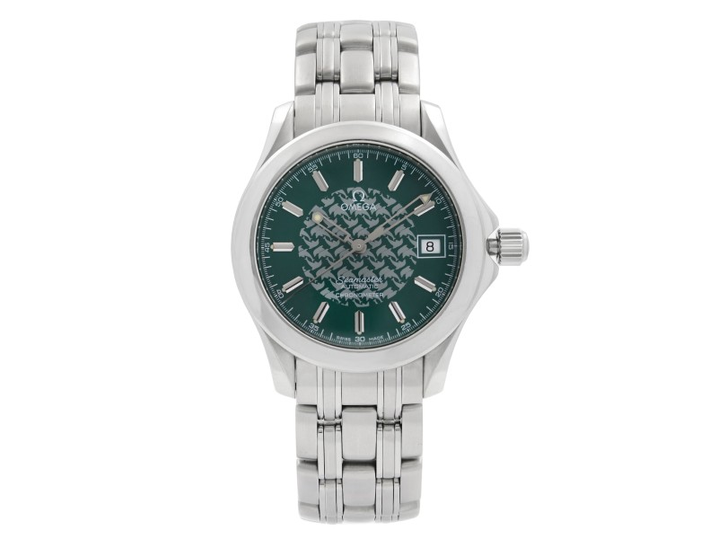 Omega Seamaster 120 Jacques Mayol Steel Green Dial Quartz Mens Watch 2506.70.00