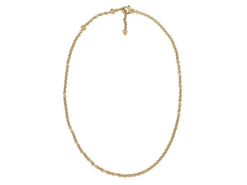 "Bvgari Bulgari 18k Yellow Gold 3.5mm Thick Oval Link Chain 19.5"" Long"