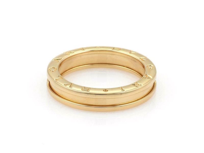Bvlgari Bulgari B Zero-1 Single 5mm 18k Yellow Gold Band Ring Size 49-US 5