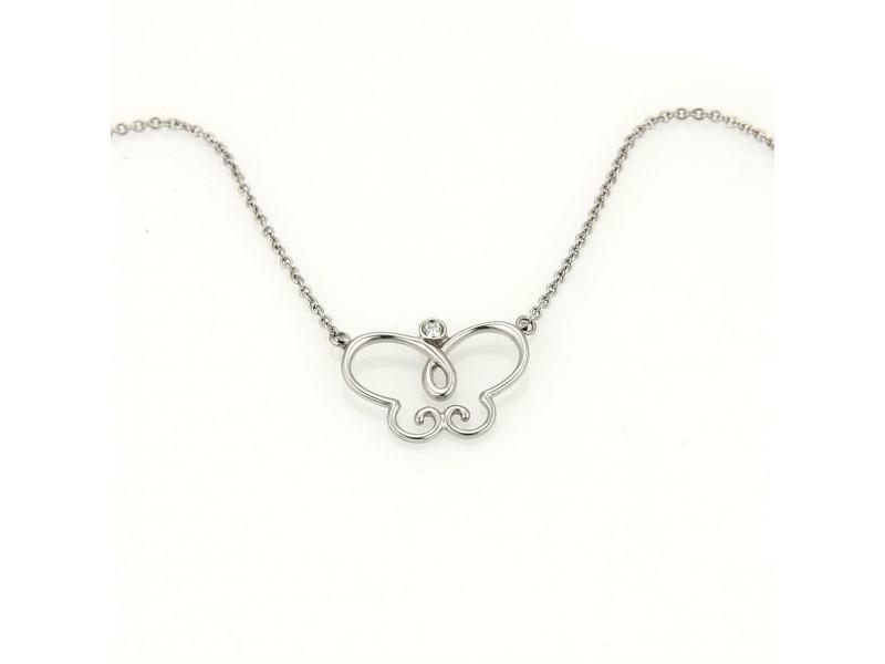 Tiffany & Co. Picasso 18k Gold & Diamond Villa Paloma Butterfly Pendant Necklace