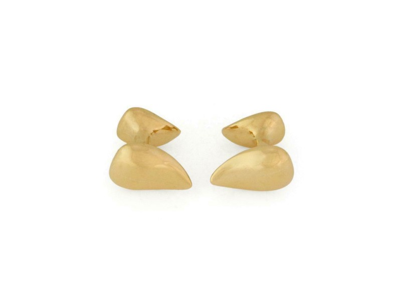 Tiffany & Co. Peretti Vintage 18k Yellow Gold Teardrop Stud Cufflinks