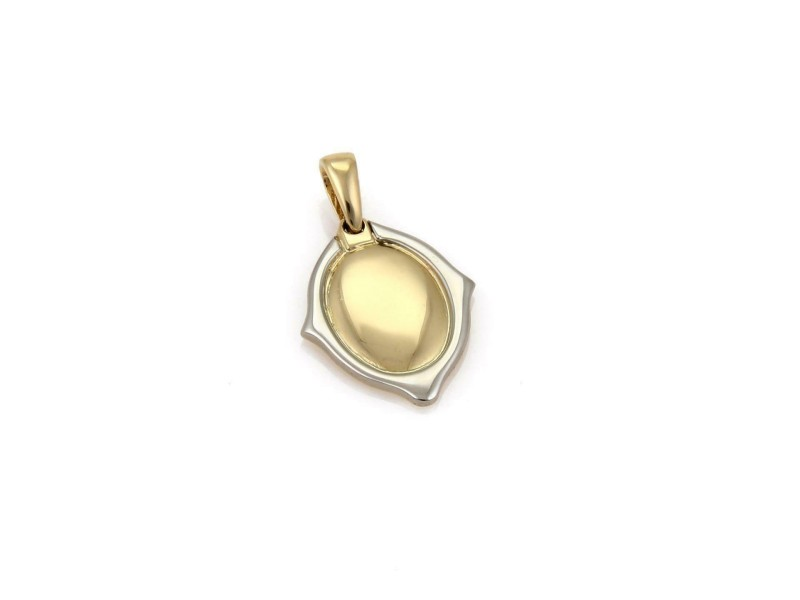 Cartier 18k Yellow & White Gold Oval Shape Mirror Style Pendant​