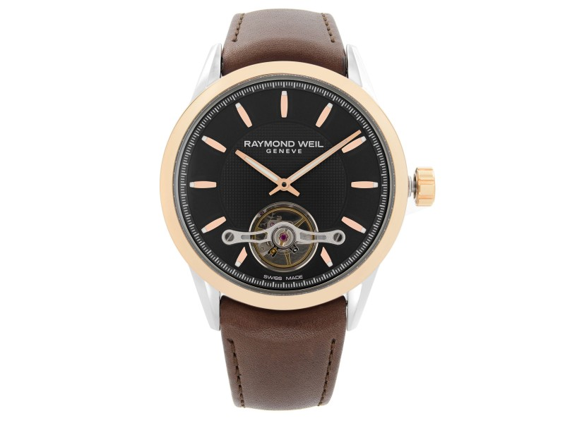 Raymond Weil Freelancer 42.5mm Leather Steel Automatic Mens Watch 2780-SC5-20001