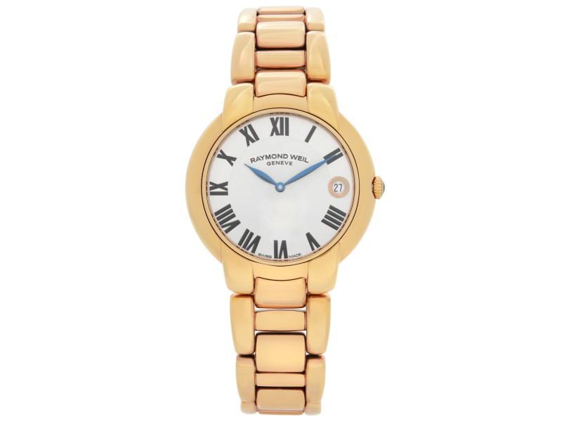 Raymond Weil Jasmine Rose Gold PVD Steel Silver Dial Ladies Watch 5235-P5-01659