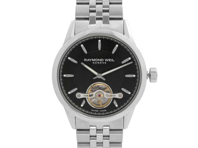 Raymond Weil Freelancer 42mm Steel Black Dial Automatic Mens Watch 2780-ST-20001