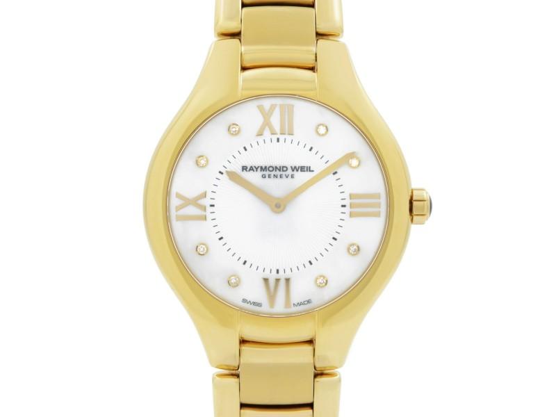 Raymond Weil Noemia Gold PVD Steel Diamond MOP Dial Ladies Watch 5136-P-00995