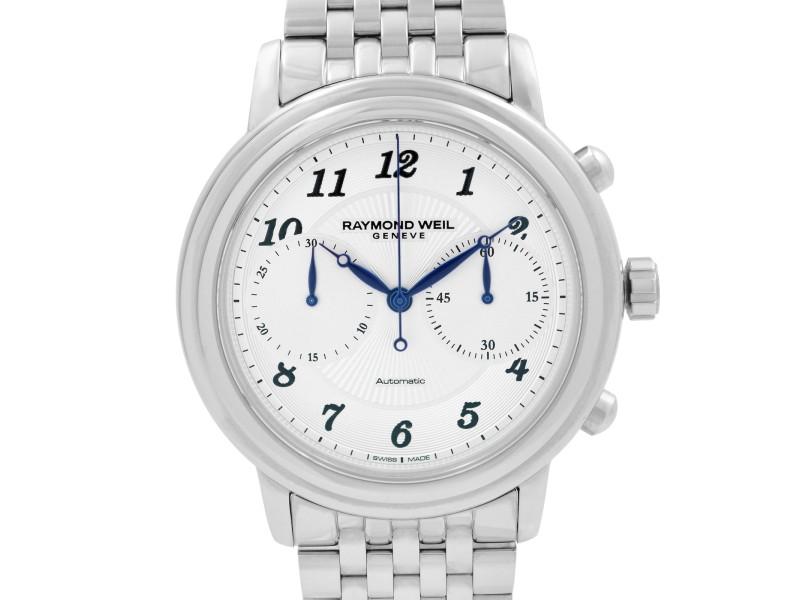 Raymond Weil Maestro 41.5mm Steel Silver Dial Automatic Mens Watch 4830-ST-05659